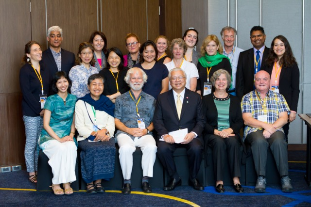 Some of the delegates at the close of the 2016 conference