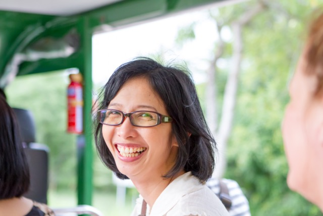 Dr Molly Saratun still smiling!