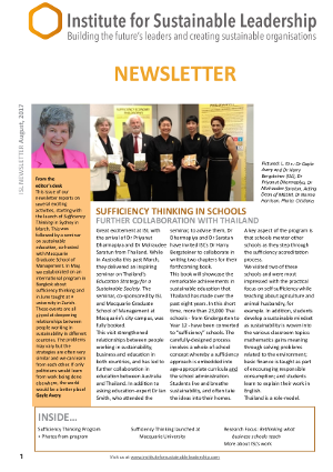 Read our August 2017 newsletter