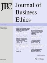 Journal of Business Ethics - cover
